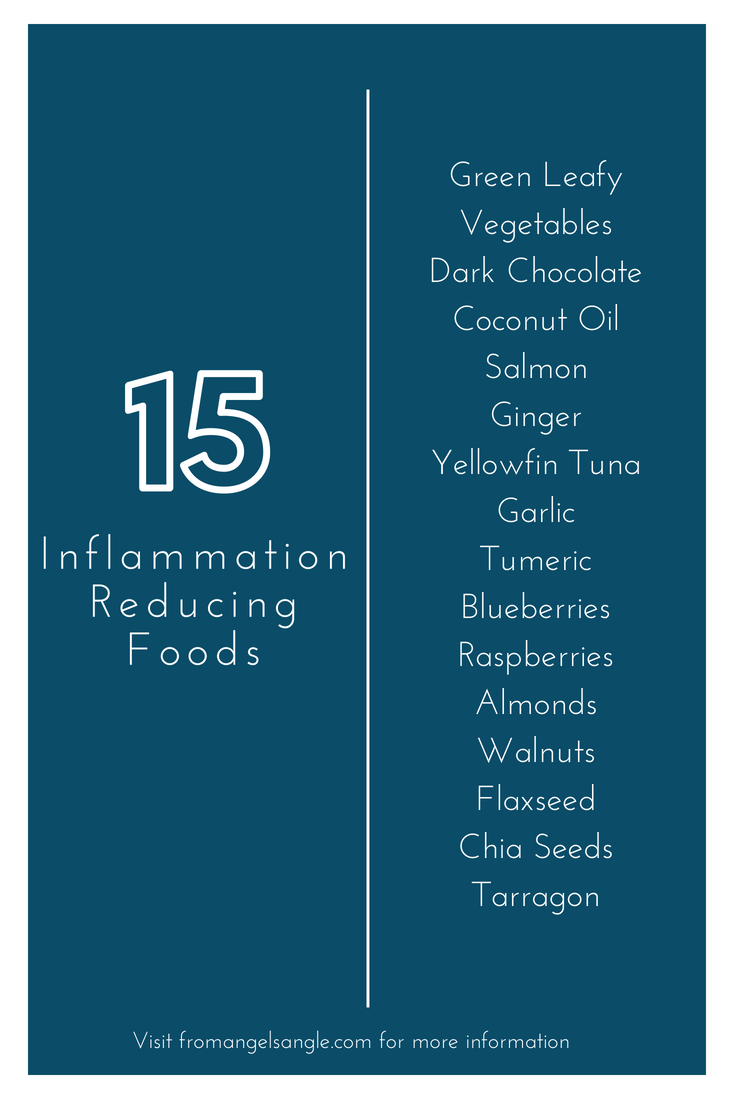 infographic of inflammation reducing foods